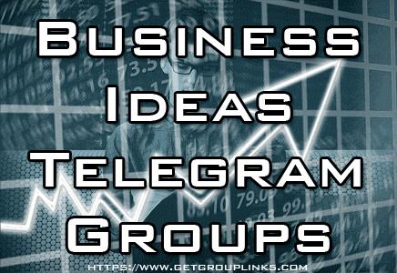business ideas telegram group
