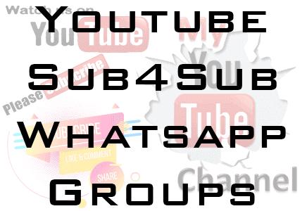 youtube sub4sub whatsapp group link