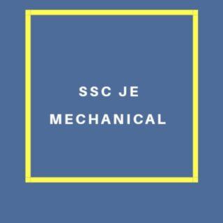 SSC JE Mechanical