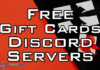 free gift cards discord server