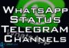 whatsapp status telegram channel